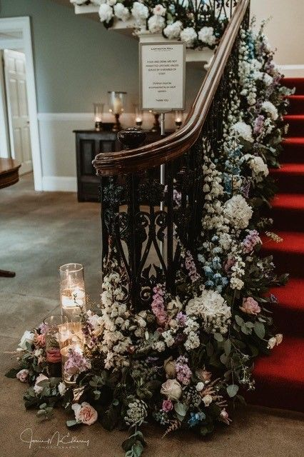 Enchanted Florist stair decoration